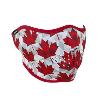 Canadian Leaf Neoprene Half Face Mask - SKU GRL-CANADIANLEAF-HI