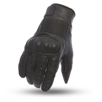 Cascade - Men's Leather Motorcycle Gloves with Rubber Knuckles - SKU FI215-FM