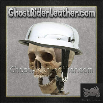 Chrome German Novelty Motorcycle Helmet - SKU GRL-HC102-DL