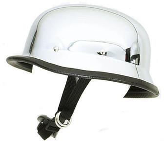 Chrome German Novelty Motorcycle Helmet - SKU HC102-DL