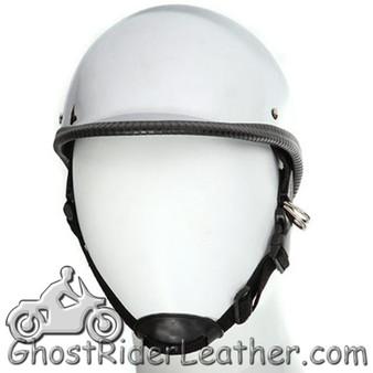 Chrome Polo Jockey Novelty Motorcycle Helmet - SKU GRL-HC104-DL