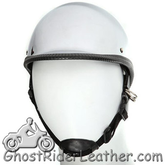 Chrome Polo Jockey Novelty Motorcycle Helmet - SKU GRL-HC104-DL