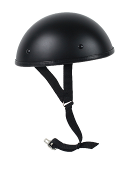 Classic Shorty Novelty Motorcycle Helmet Flat or Gloss Black - SKU CLASSIC-NOV-HI