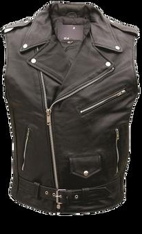 Classic Style Sleeveless Motorcycle Vest - Jacket - SKU AL2012-AL