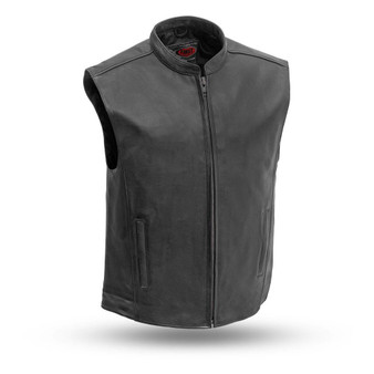 Club House - Men's Naked Leather Motorcycle Club Vest - FIM656CSL-FM