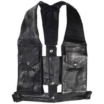 Cowhide Leather Commando Style Pocket Vest - SKU AC1888-DL
