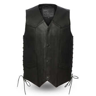 Deadwood - Men's Leather Western Vest - FIM644CPM-FM