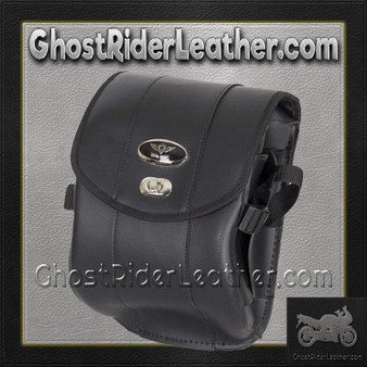 Decorative Motorcycle Leather Sissy Bar Bag with Gun Holster/ SKU GRL-SB86-DA-DL