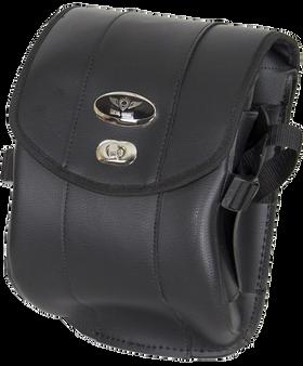 Decorative Motorcycle Leather Sissy Bar Bag with Gun Holster - SKU SB86-DA-DL