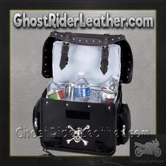 Diamond Plate Motorcycle Trunk Cooler Bag with Skull / SKU GRL-LUMCOOL-BN