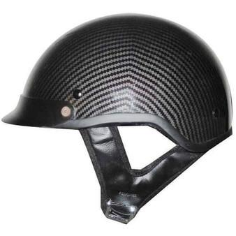 DOT Carbon Fiber LOOK Motorcycle Shorty Helmet - SKU GRL-1CL-HI