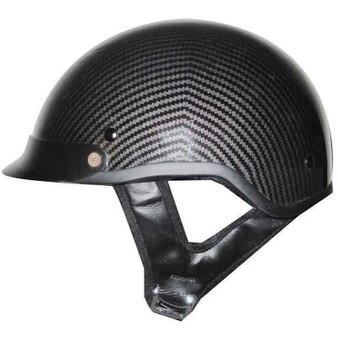 DOT Carbon Fiber LOOK Motorcycle Shorty Helmet - SKU GRL-1CL-HI