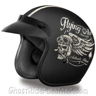 DOT Daytona Cruiser Flying Aces Open Face Motorcycle Helmet - SKU GRL-DC6-FAC-DH
