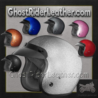 DOT Daytona Cruiser Metal Flake Color Choice Open Face Motorcycle Helmet - SKU GRL-DC7-A-DH
