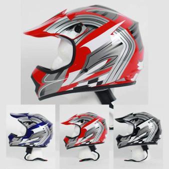 DOT Kids ATV - Dirt Bike - Motocross - Helmets - Graphics - Color Choice / SKU GRL-DOTATVKIDS-MX-G-HI