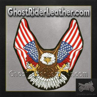 Eagle With American Flat Wings Patch / SKU GRL-PAT-B111-DL