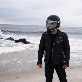 Enforcer - Men's Leather Motorcycle Jacket - SKU FIM297CLMZ-FM