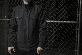 Equalizer - Men's Motorcycle Denim Shirt With Kevlar - SKU GRL-FIM423DM-FM