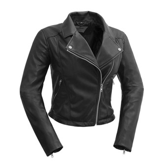 Fatale - Women's Vegan Leather Motorcycle Jacket - WBL-001-WB