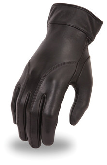 Ladies Leather Gauntlet Gloves With Gel Padding - SKU FI114GEL-FM
