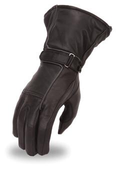 Ladies Waterproof Leather Gauntlet Gloves - SKU FI119GEL-FM