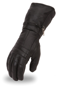Men's Cold Weather Gauntlet Leather Gloves - SKU FI120GL-FM