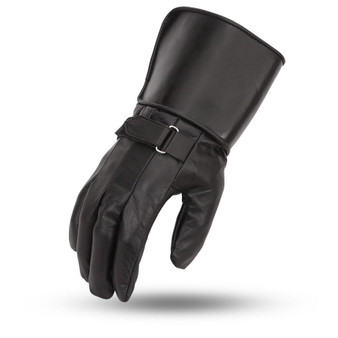 Men's Mid-Weight Lined Gauntlet Leather Gloves - SKU FI150GL-FM