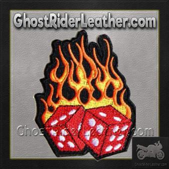 Flaming Dice Vest Patch - SKU GRL-PPA1212-HI