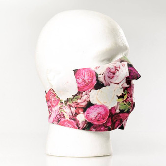 Flowers Neoprene Half Face Mask - Motorcycle Riding Mask - FMY28-HI