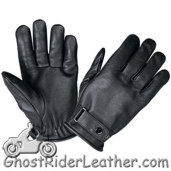 Full Finger Leather Riding Gloves with Adjustable Strap - SKU GRL-1229.00-UN