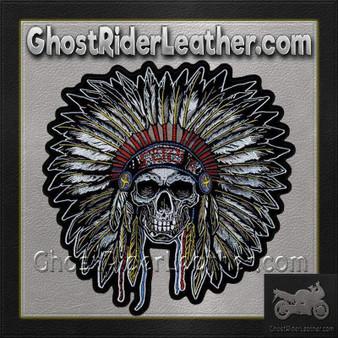 Full Headdress with Skull Vest Patch - SKU GRL-PPA7503-HI