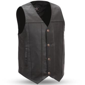 Gun Runner - Men's Leather Western Vest in Sizes Up To 8XL - SKU GRL-FMM611BSF-FM