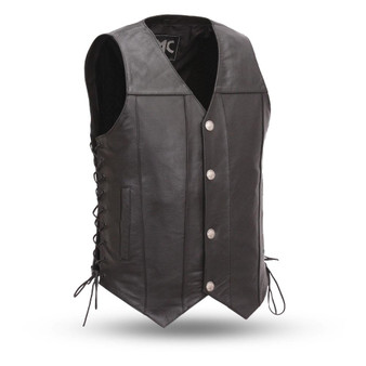 Gun Slinger - Men's Leather Western Vest  - SKU GRL-FMM612BSF-FM