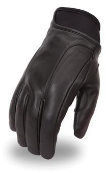 Hipora - Men's Leather Motorcycle Gloves - Reflective - SKU - FI158GEL-FM