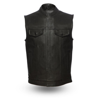 Hotshot - Men's Motorcycle Leather Vest - FIM686CPM