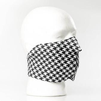 Houndstooth Neoprene Half Face Mask - SKU GRL-FMY20-HI
