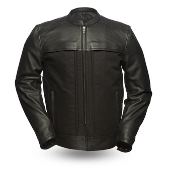 Invader - Motorcycle Leather Jacket - SKU GRL-FIM294CSLZ-FM