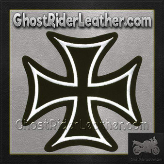 Iron Cross With White Border Patch / SKU GRL-PAT-B125-DL