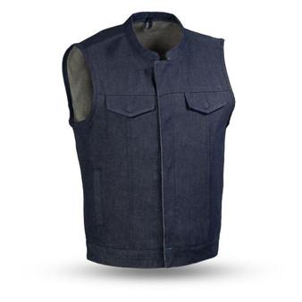 Kershaw Denim Motorcycle Vest - Blue