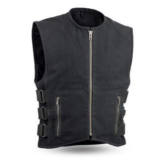 Knox - Men's Motorcycle SWAT Style Canvas Vest - SKU FIM660CNVS-FM