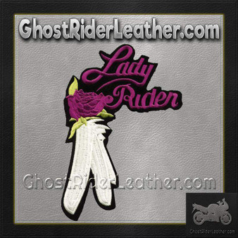 Ladies Lady Rider With Purple Rose Patch / SKU GRL-PAT-C207-DL