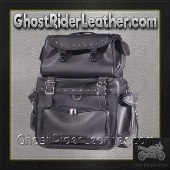 Large PVC Motorcycle Sissy Bar Bag with Studs / SKU GRL-SB002-S-DL