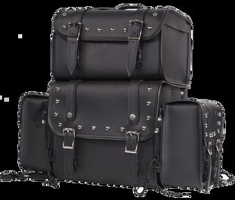 Large Sissy Bar Bag with Studs For Motorcycle Storage - SKU SB3-DL