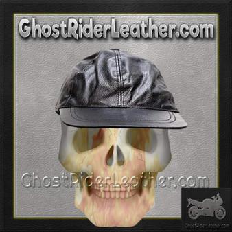 Leather Baseball Cap with Adjustable Back / SKU GRL-AC006-DL