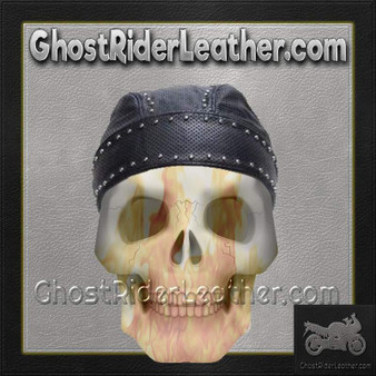 Leather Skull Cap with Studs / SKU GRL-AC007-13-DL
