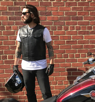 Lowside - Men's Leather Motorcycle Club Vest - FIM659CPM