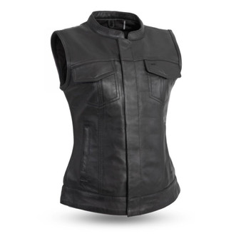 Ludlow - Leather - Women's Motorcycle Riding Vest - FIL516SDC