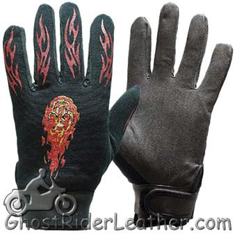 Mechanics Gloves with Flames - SKU GRL-GLZ49-DL