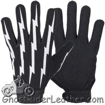 Mechanics Gloves With Lightning Bolts - SKU GLZ88-DL