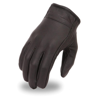 Men's Clean Short Leather Glove - SKU GRL-FI132GEL-FM
